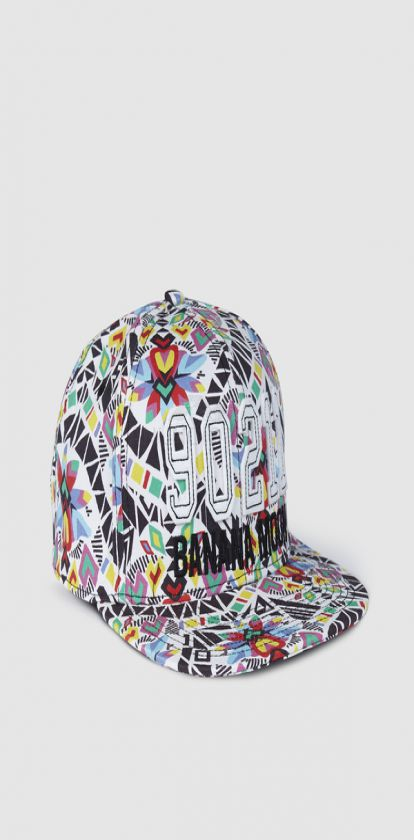 Gorra estampada multicolor